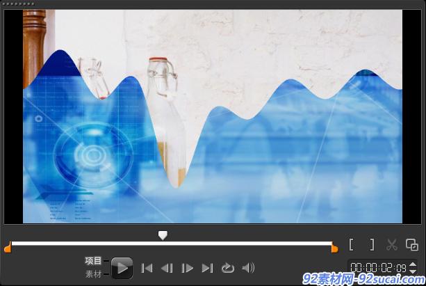 如何制作视频流动转场6