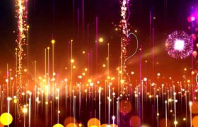 梦幻线性光效烟花绽放背景视频