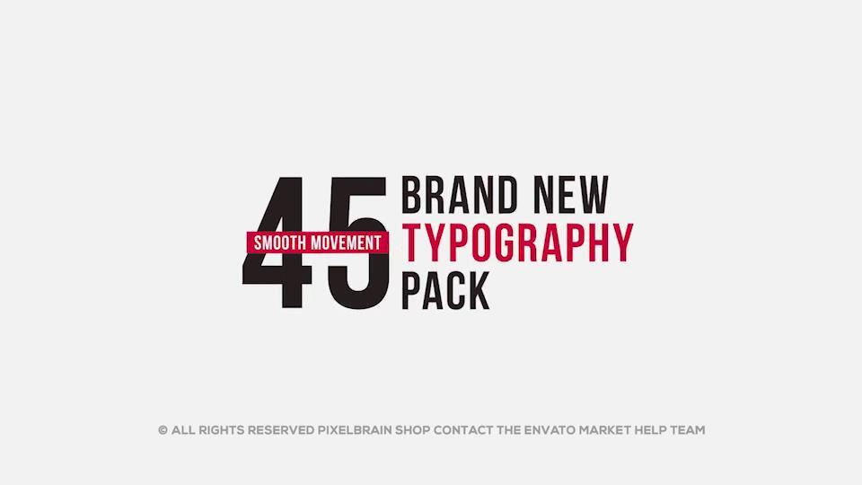 ae模板 45组简约标题字幕文字排版动画模板 ae素材图片