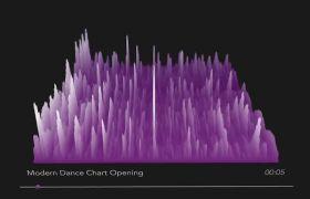 AE模板 3D山脉波动音频频谱可视化工具模板 AE素材