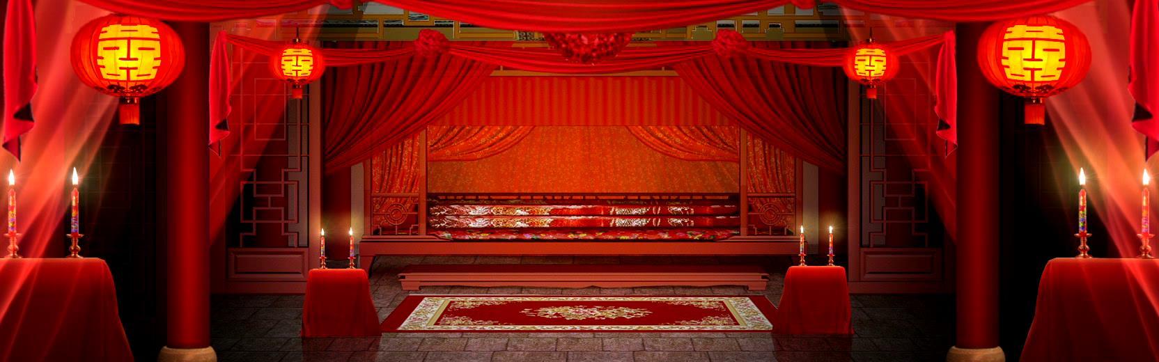 浪漫中国古代风婚礼婚庆背景板-视频-92素材网_ae模板