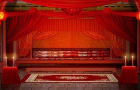 浪漫中国古代风婚礼婚庆背景板视频