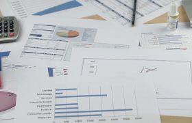 商务企业数据统计图三维增长宣传视频