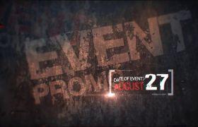 AE模板 炫酷运动事情体育赛事宣传片头收场模板 AE素材