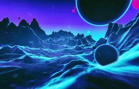 梦境笼统水星海面穿越静态视觉视频