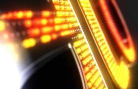 AE模板 炫酷霓虹灯特效粒子组合点亮logo标志模板 AE素材