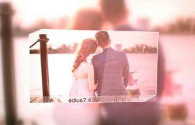 AE模板 浪漫唯美玻璃滤镜婚礼回忆相册edius模板 AE素材