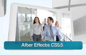 AE模板 立体框企业商务公司视频宣传模板 AE素材