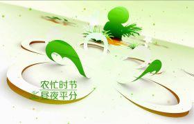 唯美绿色小清爽蝴蝶剪纸斑纹展现春分骨气视频