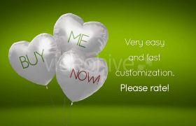 AE模板 心爱气球飞翔生日祝愿求婚广告口号模板 AE素材