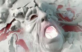 缤纷多彩的活动染料笼统艺术高清短片