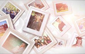 AE模板 美妙温馨光晕留念家庭婚礼照片相册模板 AE素材