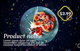 AE模板 生机漂泊旋转元素餐厅菜单促销宣传模板 AE素材