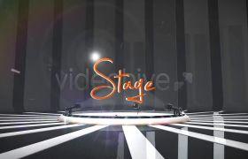 AE模板 动感舞台聚光灯殊效标题相册展现模板 AE素材
