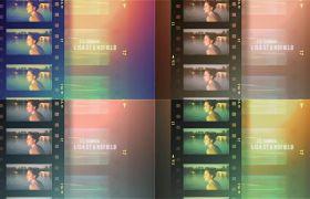 AE模板 影戏胶片作风视频含糊快切滤镜殊效模板 AE素材