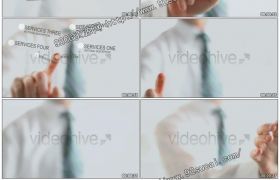 商务科技商业触摸界面介绍ae模板工程文件Future touch Interface