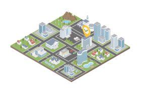 AE模板 多款3D企业修建工程舆图计划小图标模板 AE素材