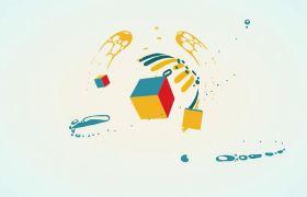 AE模板 卡通夸张变换液体动画演绎logo模板 AE素材