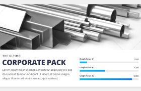 AE模板 简洁企业工作商务PPT幻灯片展示介绍模板 AE素材