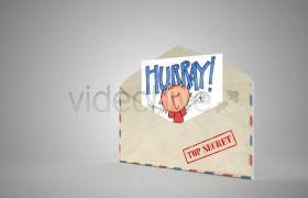 打开信封特效动画视频素材 通道视频