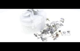 白金银饰耳钉戒指首饰拍摄视频