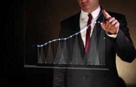 AE模板 科技企业商务图表信息手势操作演示模板 AE素材