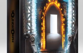 音效素材 种种科幻邪术能量传送石门开关碰撞音效素材Portals