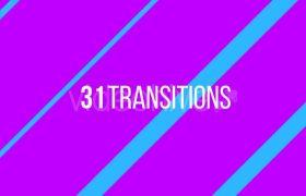 多样式遮罩蒙版图形变换转场特效动画通道视频素材