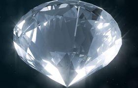 AE模板 高贵闪耀光芒钻石旋转破碎logo动画模板 AE素材