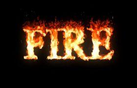 AE模板 炫酷多颜色火焰熄灭殊效logo模板 AE素材