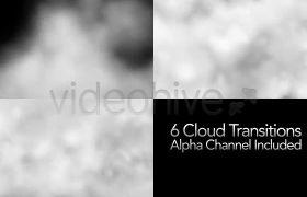 白色云雾烟雾飞散消融过渡通道视频素材
