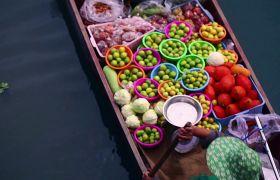 亚洲国度印度食品汤美食高清实拍视频素材