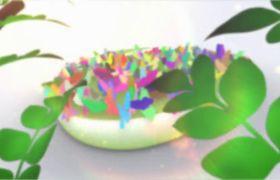 AE模板 精美春日多彩缤纷花朵蝴蝶飞舞汇聚logo模板 AE素材