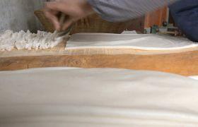 米粉特写切米粉高清实拍视频素材