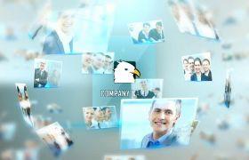 AE模板 企业科技手触屏幕logo展示图片相册模板 AE素材