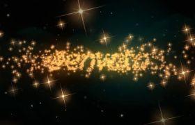 AE模板 金色炫丽闪亮灿烂星光粒子汇聚logo模板 AE素材