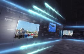 AE模板 电视新闻节目快速视频轨道开场片头栏目包装模板 AE素材