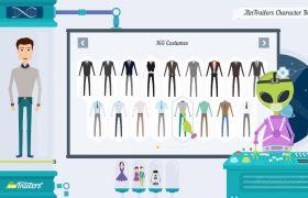 AE模板 外星人卡通人物动画元素设计东西包模板 AE素材