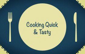 AE模板 卡通创意心爱餐厅厨房静态图形展现动画模板 AE素材