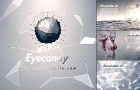 AE模板 炫酷将来科技感网格展现收场动画模板 AE素材