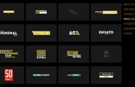 AE模板 180组现代创意标题字幕设计动画模板 AE素材