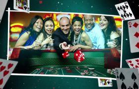 AE模板 欢乐动感扑克牌幻灯回忆相册模板 AE素材