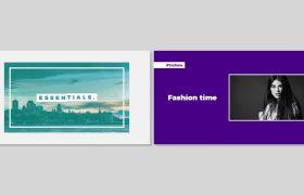 PR模板 时尚平面图文标题排版促销宣传片模板 PR素材