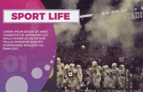 PR模板 动感球类体育活动幻灯过渡宣传模板 PR素材