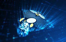 AE模板 高科技感炫酷电流光显示logo模板 AE素材
