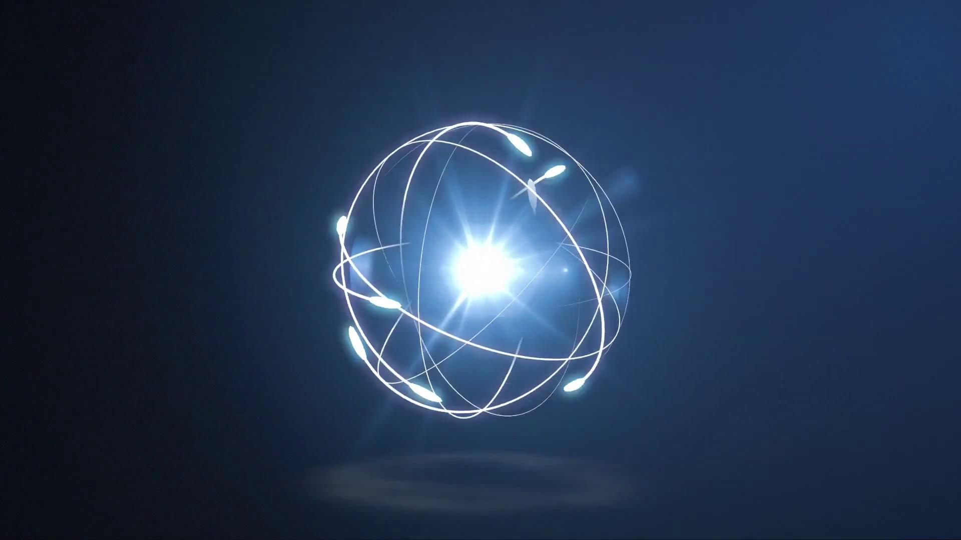 炫酷线条运动圆球光效环绕旋转视频素材