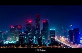 中国大陆11座城市美丽夜景宣传片航拍高清视频素材