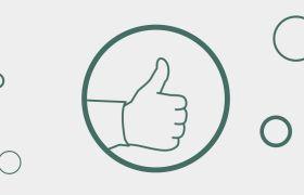 大拇指向上点赞推荐动画视频素材