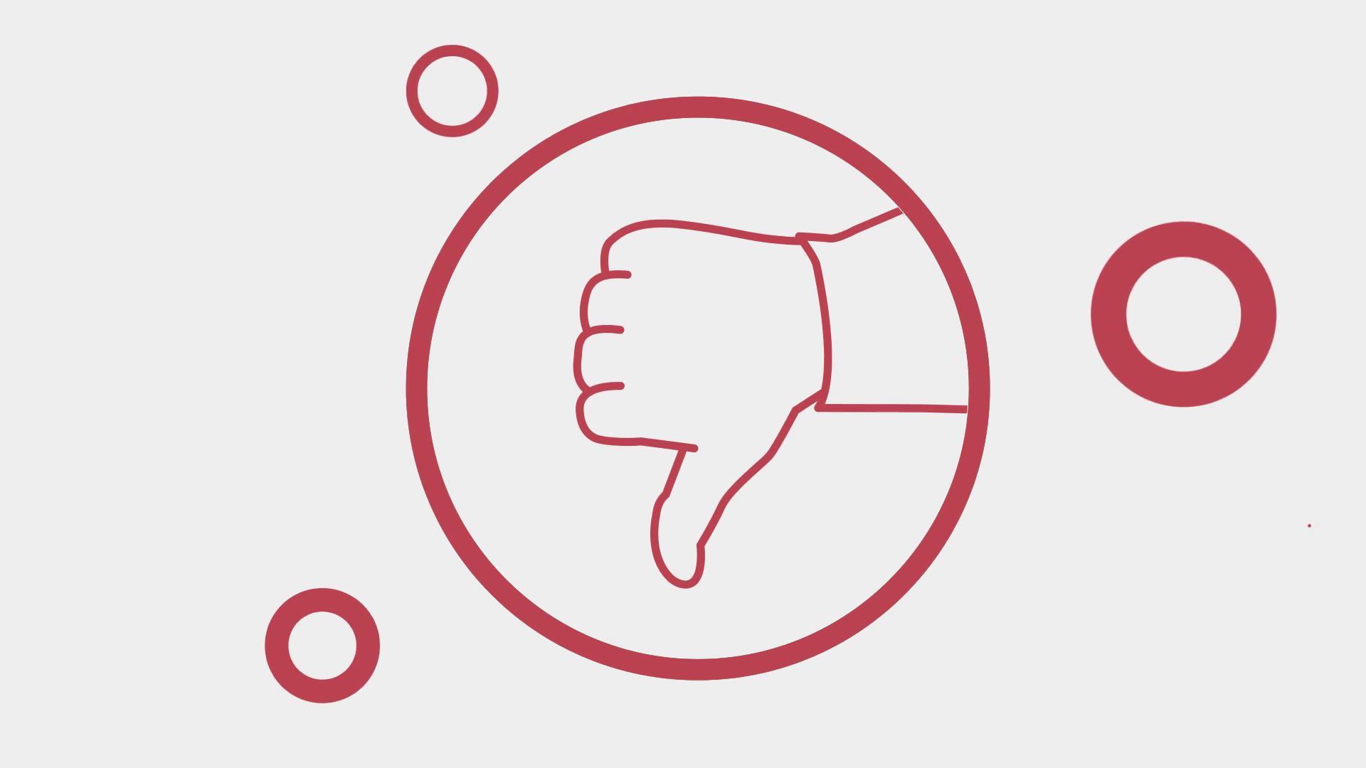 大拇指向上点赞推荐动画视频素材图片