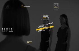 AE模板 时尚现代标题文本字幕动画开场模板 AE素材